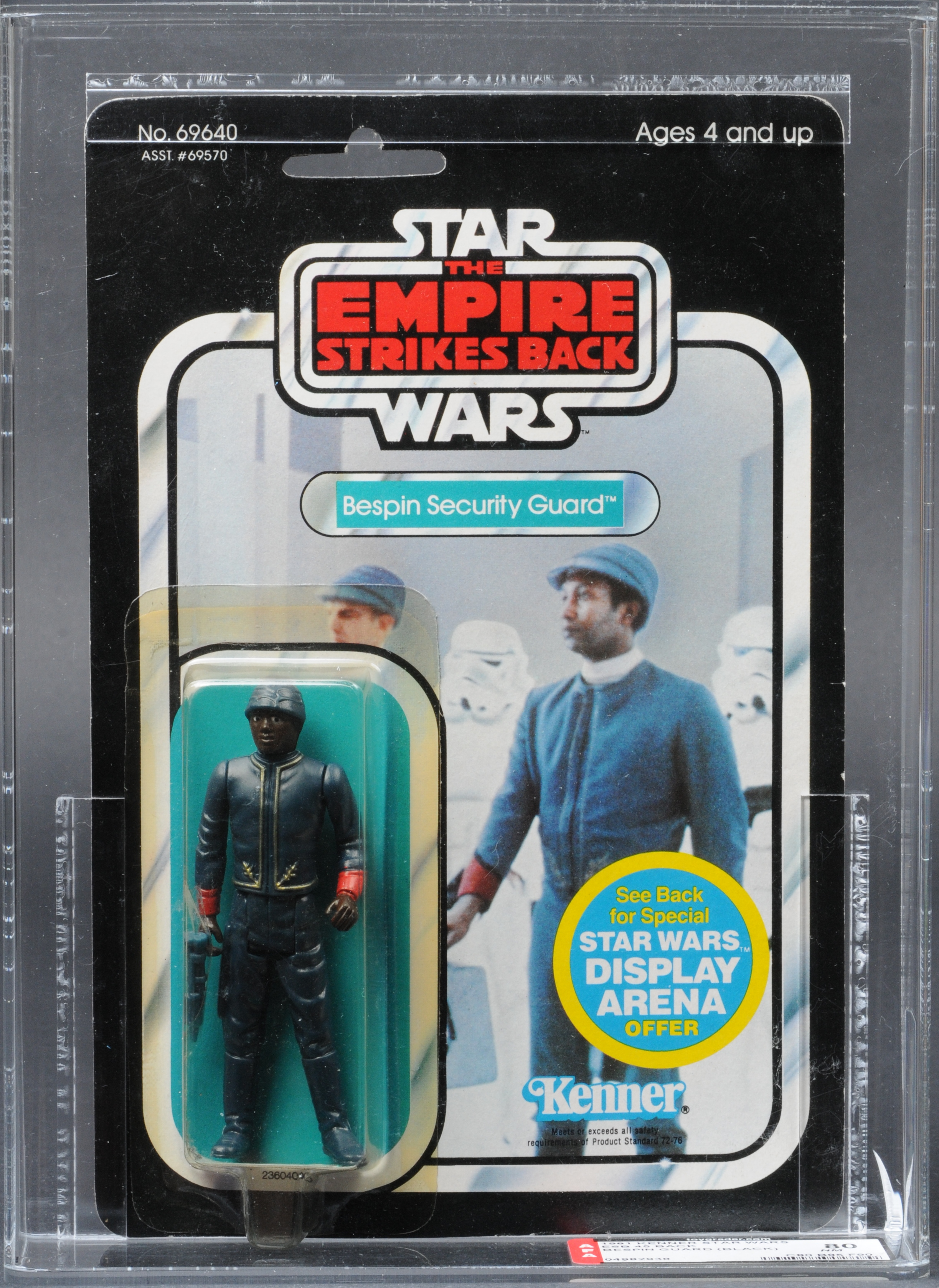 Kenner Bespin Guard Black ESB 45 Back Fron