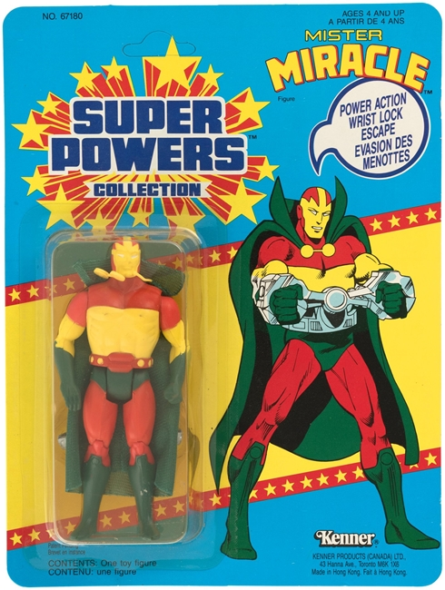 1 Kenner Canadian Super Powers Mr Miracle 33 Back Card Front