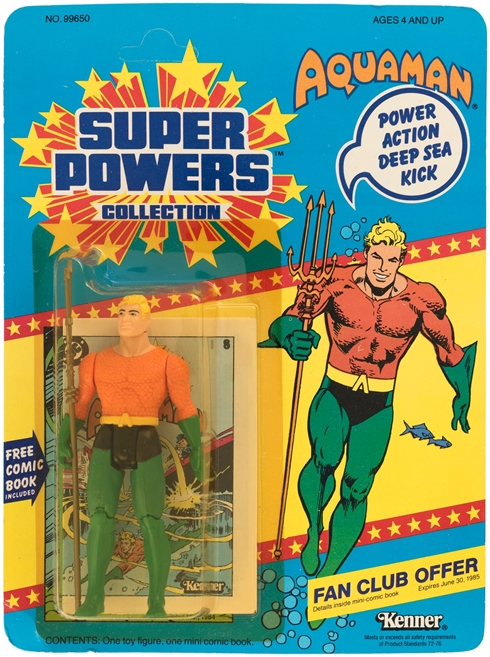 1 Kenner Super Powers Aquaman 12 Back Card Front