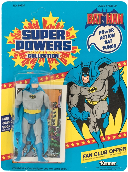 1 Kenner Super Powers Batman 12 Back Card Front