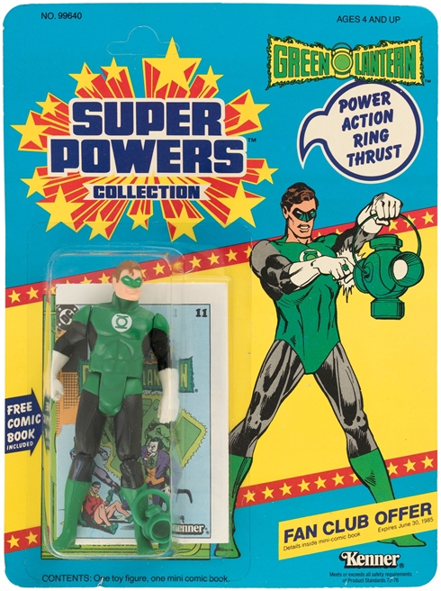 1 Kenner Super Powers Green Lantern 12 Back Card Front