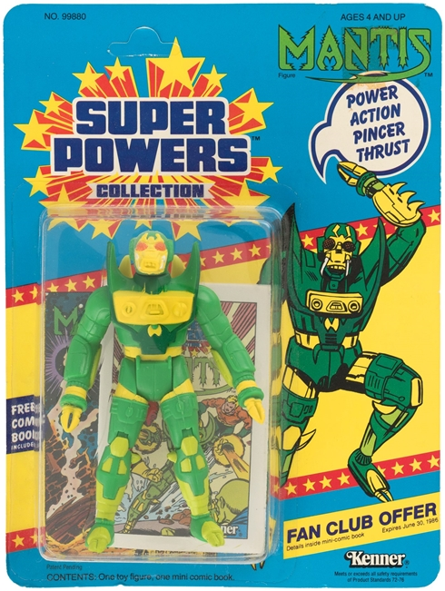 1 Kenner Super Powers Mantis 23 Card Back Front