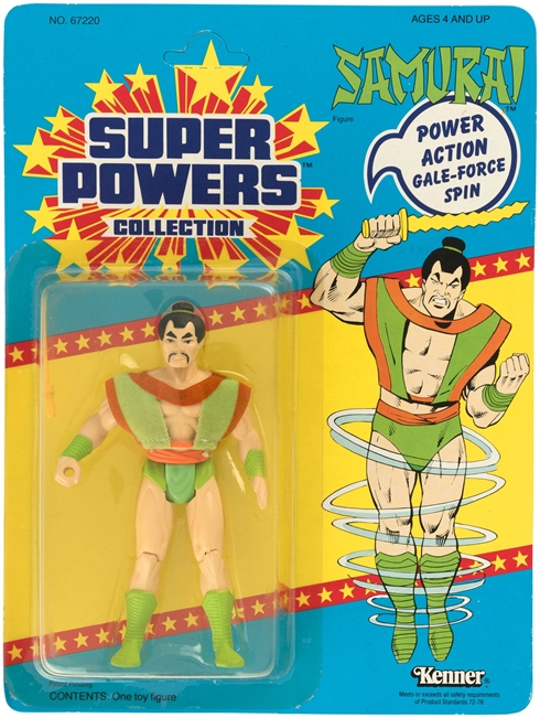 1 Kenner Super Powers Samurai 33 Back Card Front