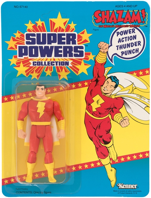 1 Kenner Super Powers Shazam 33 Back Card Front