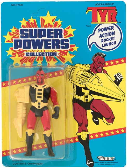 1 Kenner Super Powers Tyr 33 Back Card Front