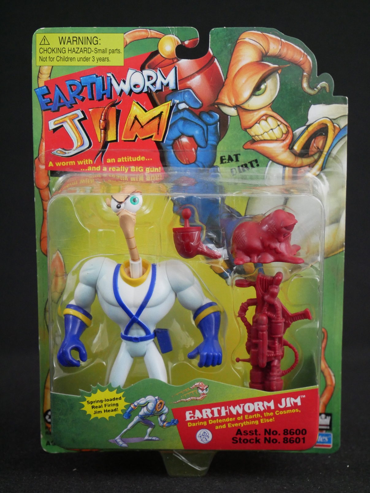 1 Playmates Earthworm Jim Figures Red Accessories