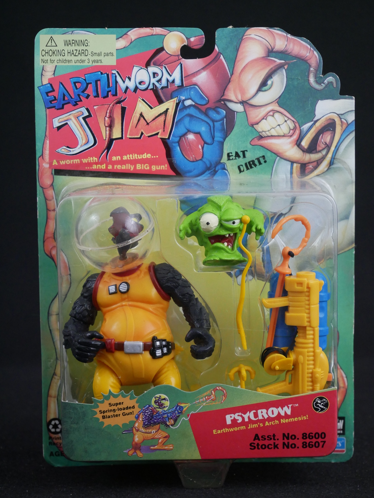 1 Playmates Toys 1 Earthworm Jim Psycrow Figure Front