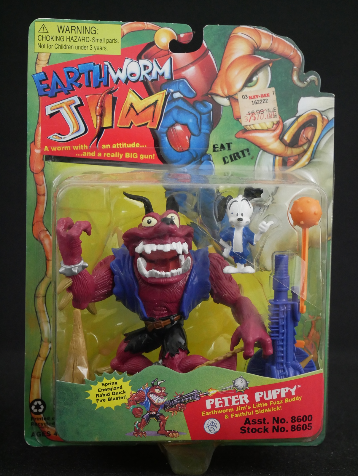 1 Playmates Toys Earthworm Jim Peter Puppy Figure Front